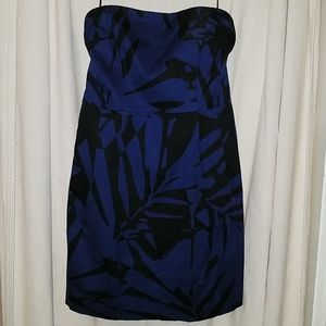 Express strapless dress with POCKETS!